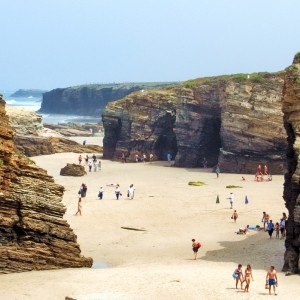 Playa Catedrales stage