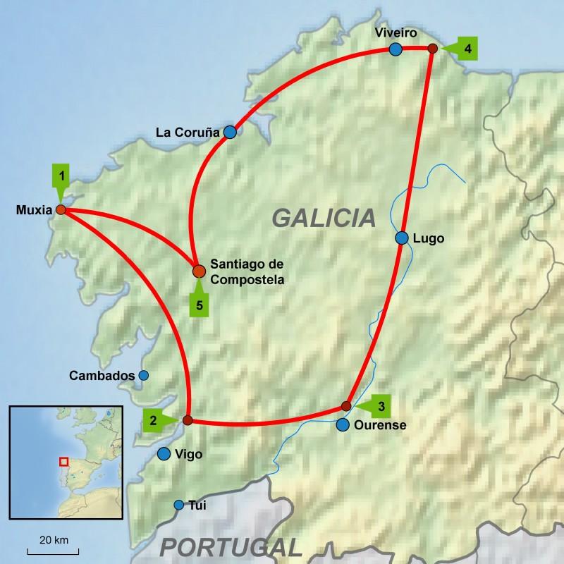 Round tour Galicia