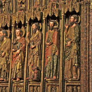 Santa María de los Reyes, puerta, Laguardia, by Dave Craig