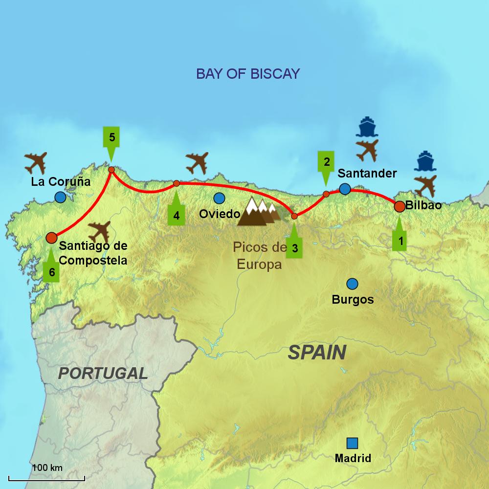 Camino Norte Pictures Map of Camino Del Norte