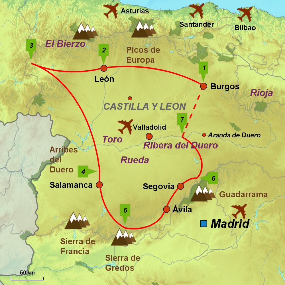 Castilla y Len Tour IC2 Selfdrive Independent Touring Holiday in