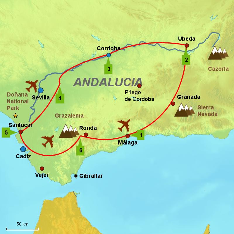 Andalucia Guadalquivir route 800