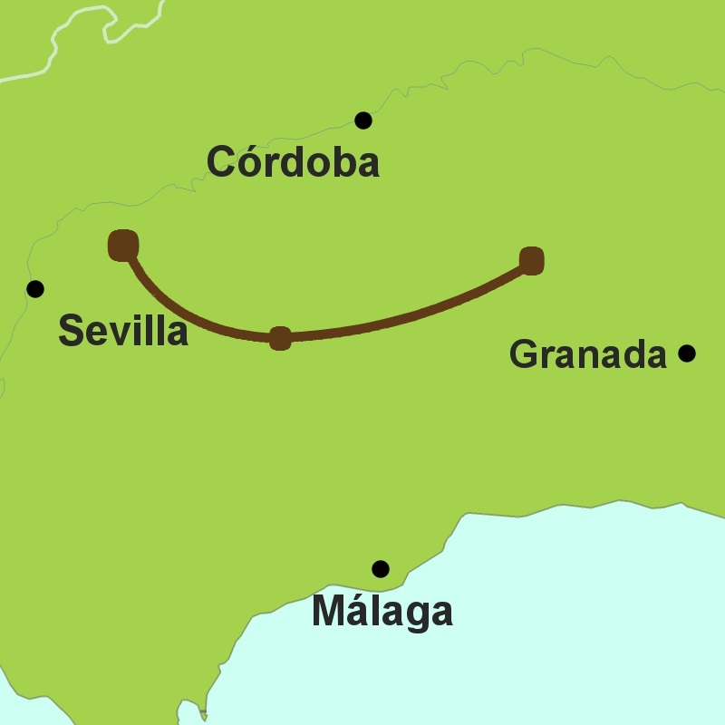 Map of Camino de Pasion