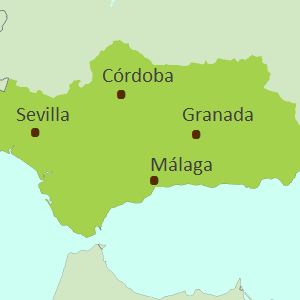 Map of Andalucia touring region