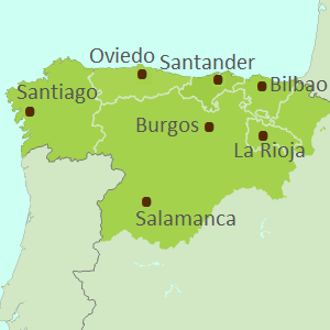 Map of northern Spain touring region