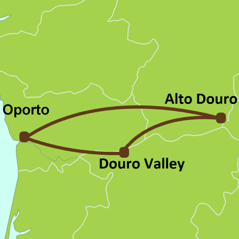 PO4 - wine valley douro preview map