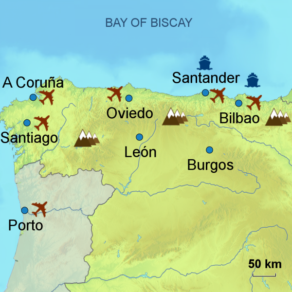 North Spain touring area