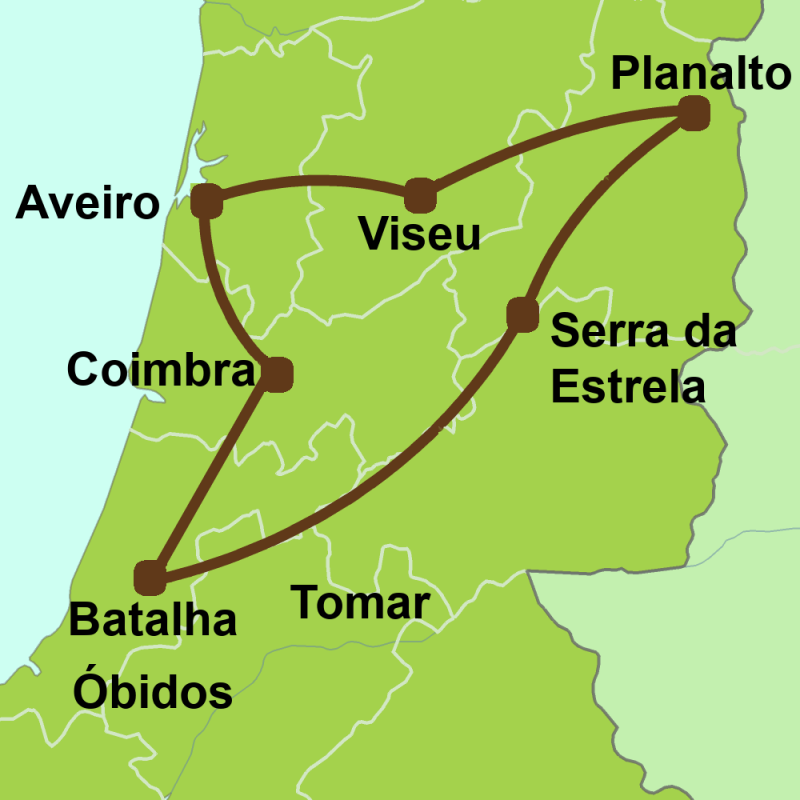 Map of Tour of Centro de Portugal