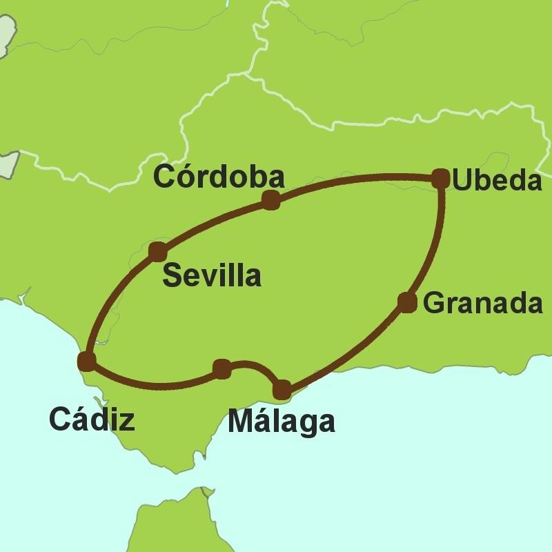 Andalucia Guadalquivir driving-tour