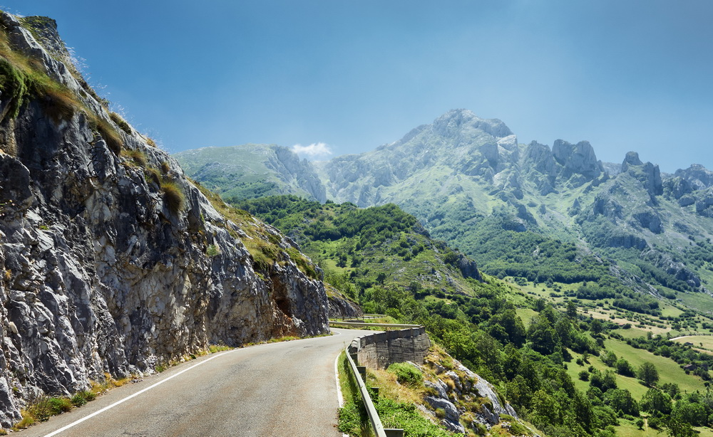 Photo of road in Picos de Europa