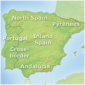Spain and Portugal touring regions