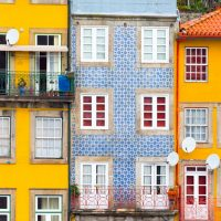 Colourful houses in Porto