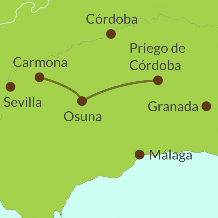 AC3 Small Map of Camino de Pasión tour