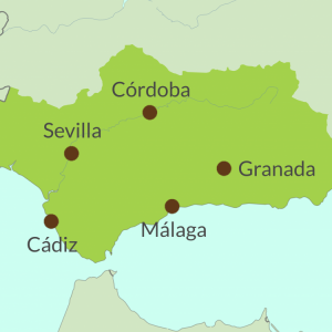 Map preview of Andalucia touring region