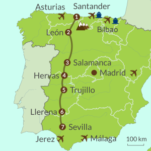 Detailed map of IC1 Via de Plata Tour