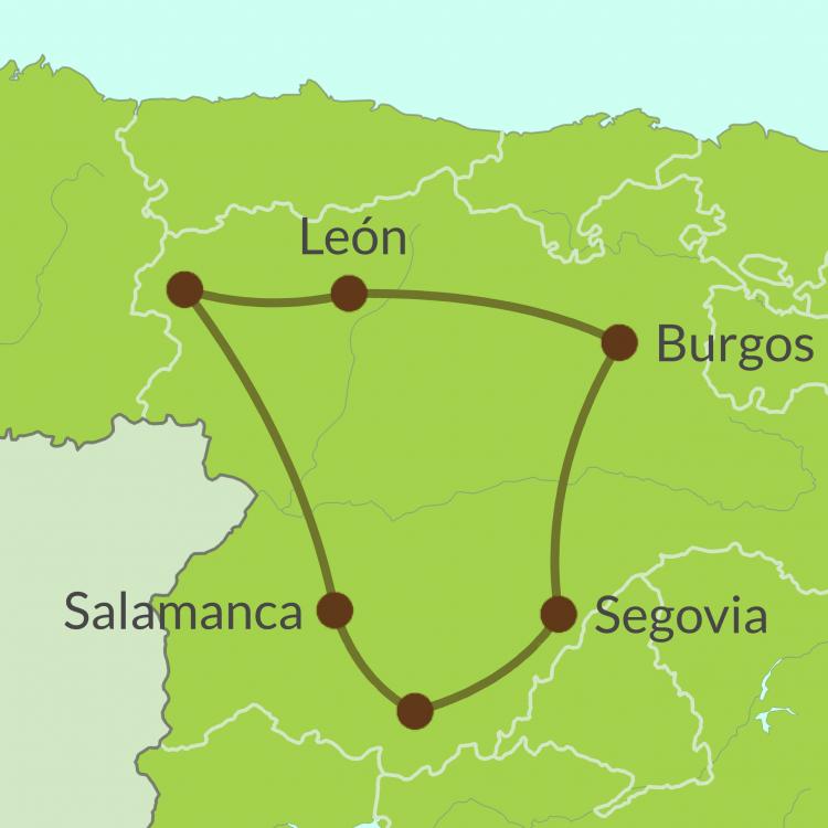 IC2 Small Map of Castilla y Leon Tour