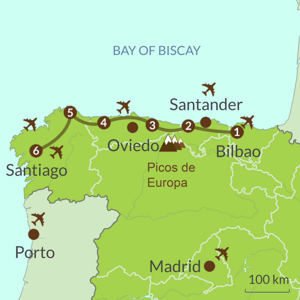 Bilbao to Santiago Tour | Caminos touring holidays in Spain on