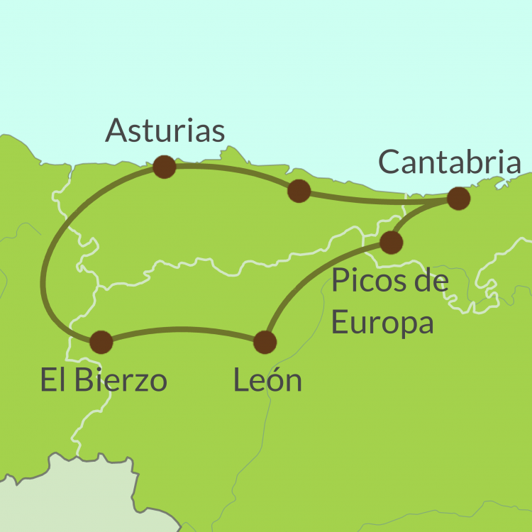 Map Of North Spain Coast.Ferry Tours Northern Spain Bespoke Touring Holidays Spain