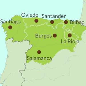 Map preview of North Spain touring region