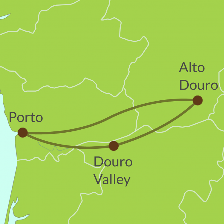 PO4 Small Map of Porto and Douro Valley tour