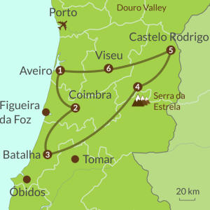 Detailed map of PO9 Centro de Portugal Tour