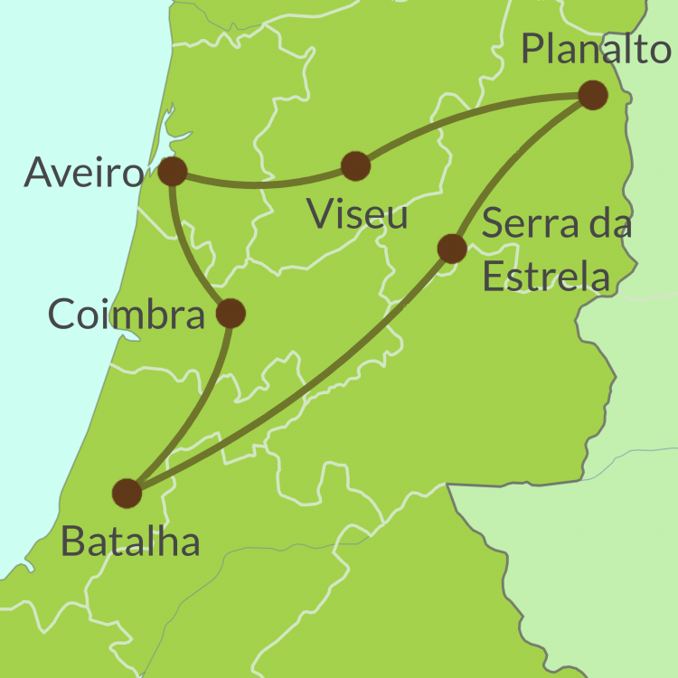 PO9 Small Map of Centro de Portugal Tour