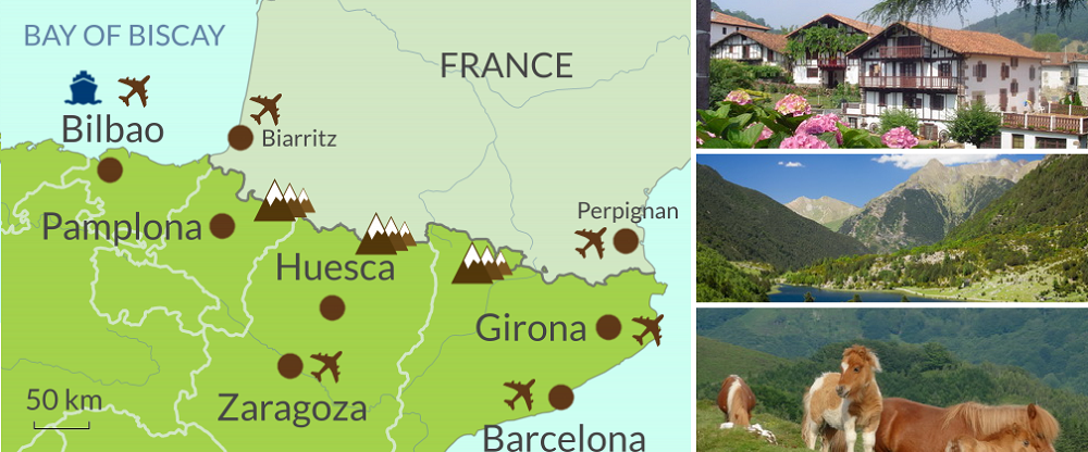 Spanish Pyrenees Touring area