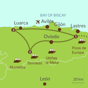 Map of Discover Asturias Tour