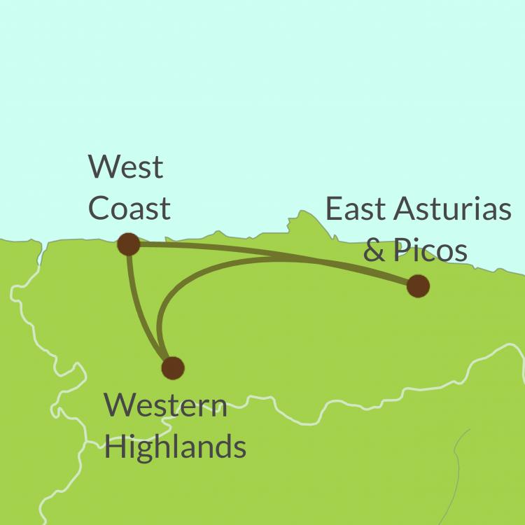 Map preview Asturias round trip