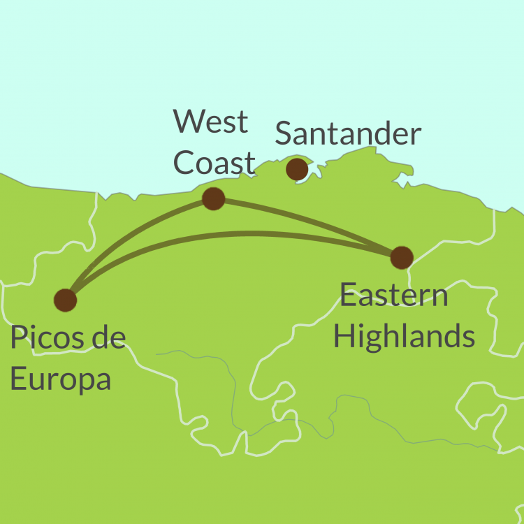 Map of Discover Cantabriatour