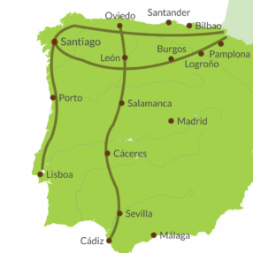 Saint James Ways in the Iberian Peninsula