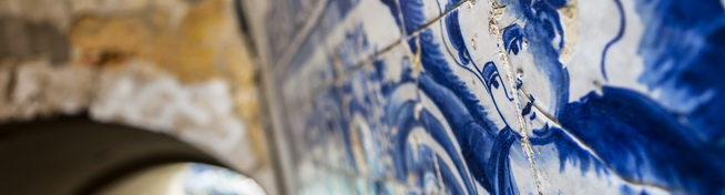 Photo of blue tiles in Lisboa