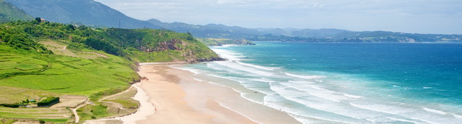 Photo of beach in Asturias, Northern Spain