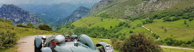 Photo of car in the Cantabria mountains